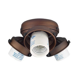 Turtle Fit 3-light Bronze Fan Kit Flush Mount