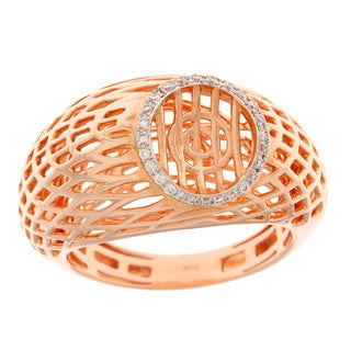 Neda Behnam 18k Rose Gold 1/5ct TDW Weave Ring