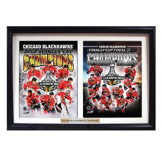 Chicago Blackhawks 2013 Stanley Cup Champions Deluxe Double Frame