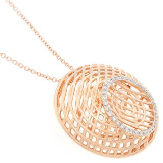 Neda Behnam Diamonds for a Cure 18k Rose Gold 1/4ct TDW Diamond Necklace (H-I, SI1-SI2)