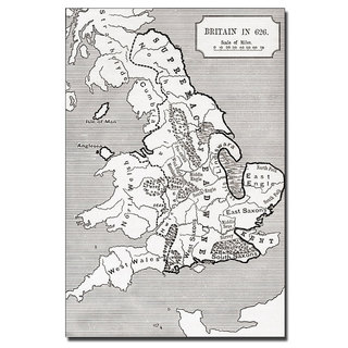 Unknown 'Map of Britain in 626' Canvas Art