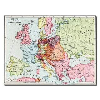 Unknown 'Europe After the Peace of Luneville' Canvas Art