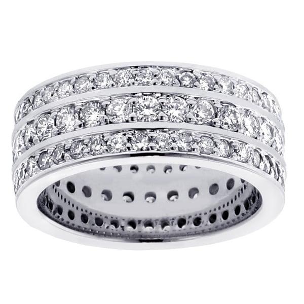 14k/ 18k Gold or Platinum 3 1/10ct TDW Diamond Wedding Band (F-G, SI1-SI2)