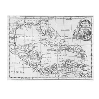 Unknown 'Map of the West Indies, Florida & South America' Canvas Art