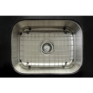 Undermount Stainless Steel 23-inch Single Bowl Kitchen Sink Combo