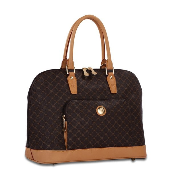 Rioni Signature Large Brown Dome Handle Bag
