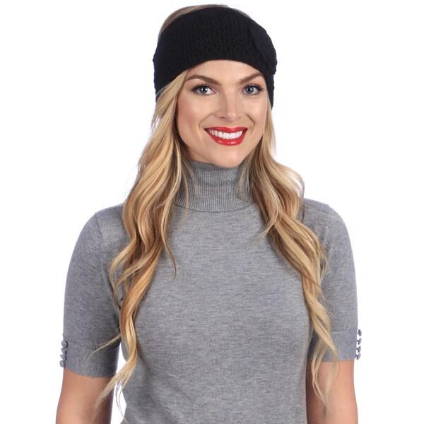 Women's Black Cold Weather Head Wrap