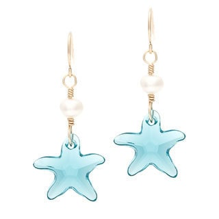 Lola's Jewelry 14k Goldfill 'Guayas Starfish' Hook Earrings