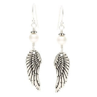 Lola's Jewelry 'Archangel Wings' Freshwater Pearl Hook Earrings
