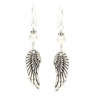 Lola's Jewelry 'Archangel Wings' Freshwater Pearl Hook Earrings