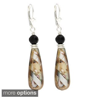 Lola's Jewelry 'Moon Teardrops' Mother of Pearl and Abalone Dangle Earrings