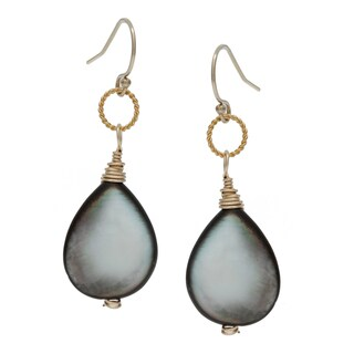 Lola's Jewelry Goldfill Mother of Pearl Dangle Earrings