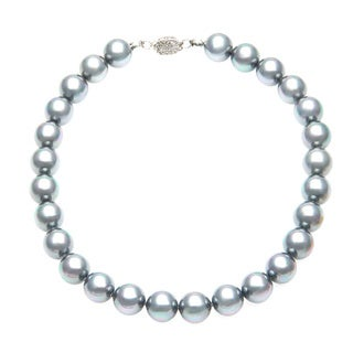 Lola's Jewelry Gray Pearls Statement Necklace (14 mm)