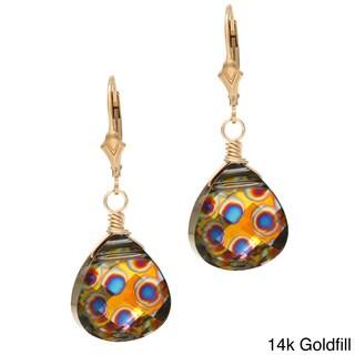 Lola's Jewelry Peacock Elegance Crystal Briolette Earrings