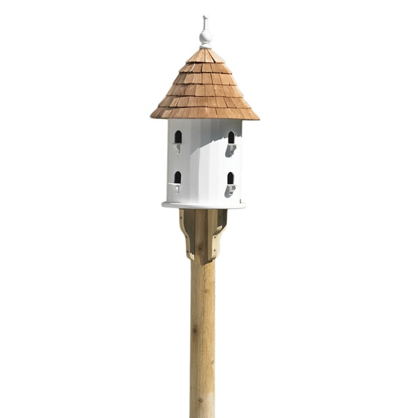 39 Lazy Hill 39 Cedar Roof Bird House Free Shipping Today