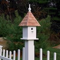 'Loretta' Cedar Roof Rustic Bird House