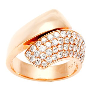 Neda Behnam 18k Rose Gold 4/5ct TDW Twist Ring