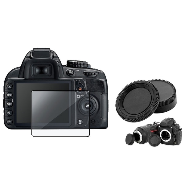 INSTEN Clear Screen Protector/ Camera Body/ Lens Cover for Nikon D3100