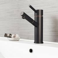 VIGO Noma Bathroom Single Hole Faucet in Antique Rubbed Bronze with Pop Up