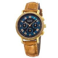 Burgi Ladies Swiss Quartz Multifunction Leather Strap Watch