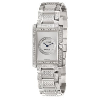 Concord Women's 'Delirium' 18K White-gold Diamond-encrusted Swiss Quartz Watch