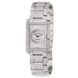 Concord Women's 'Delirium' 18K White-gold Diamond-encrusted Swiss Quartz Watch