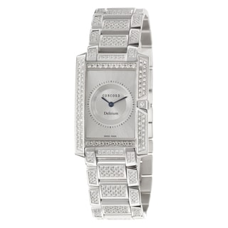 Concord Women's 'Delirium' 18K White-gold Elegant Swiss Quartz Watch