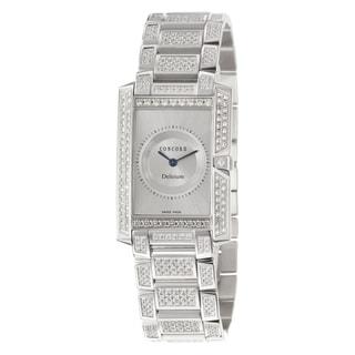 Concord Women's 'Delirium' 18K White-gold Elegant Swiss Quartz Watch