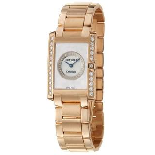 Concord Women's 'Delirium' 18K Rose Gold Diamond-accented Swiss Quartz Watch