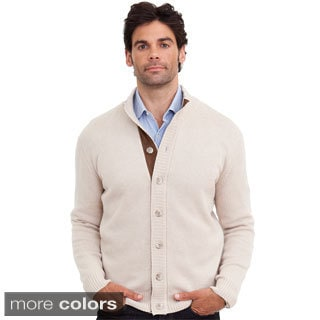 Luigi Baldo Italian Made Men's Cashmere Full Button Cardigan
