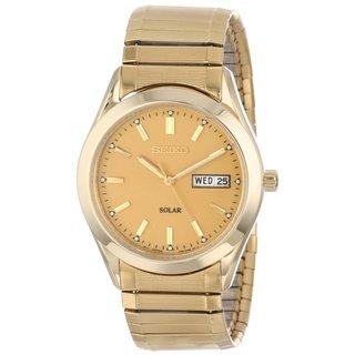Seiko Men's SGFA02 Gold-Tone Expansion Band Watch