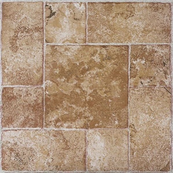 Achim Nexus Beige Terracotta 12x12 Self Adhesive Vinyl Floor Tile