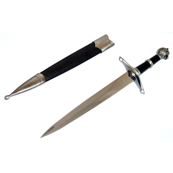 Defender 15-inch Fantasy Stainless Steel Dagger with Sheath