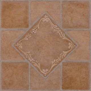 Nexus South West Ceramic 12x12 Self Adhesive Vinyl Floor Tile - 20 Tiles/20 sq Ft.