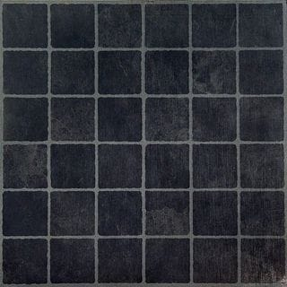 Dark Tile Flooring heres a minimalist bathroom with a detailed tile flooring comprised of dark grey and small white Nexus Dark Slate Checker Board 12x12 Inch Self Adhesive Vinyl Floor Tiles Case Of 20 Free Shipping On Orders Over 45 Overstockcom 15783457