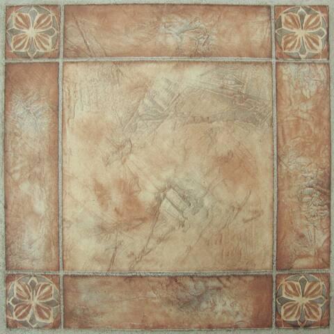 Achim Nexus Spanish Rose 12x12 Self Adhesive Vinyl Floor Tile - 20 Tiles/20 sq. ft.