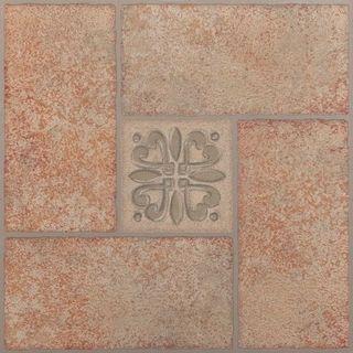 Achim Nexus 20-Piece Beige Terracotta Motif 12x12 Self Adhesive Vinyl Floor Tile (20 Square Feet)