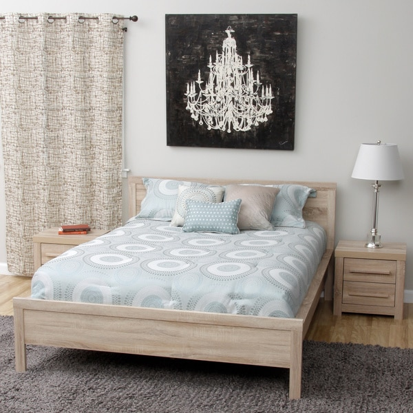 Julia Queen Size Bed And Two Nightstands Bedroom Set Free Shipping Today
