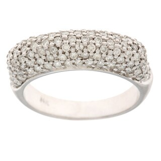 Neda Behnam 14k White Gold 1ct TDW Dome Ring