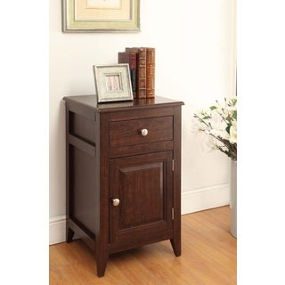 Shop Espresso Finish Nightstand Side Table Storage Cabinet ...