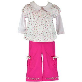 BT Kids Baby Girls' Pink Floral Pant Set