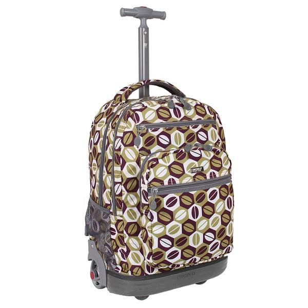 J World New York Coffee Sundance Rolling Laptop Backpack