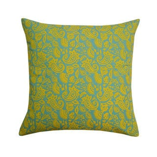 20 x 20-inch Aqua Petit Paisley Throw Pillow