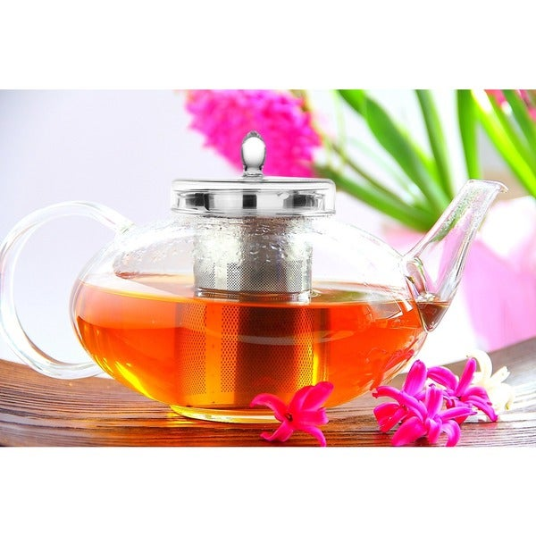 Tea Beyond Lead-free No-drip Special Glass 42oz/ 1242ml Teapot Harmony