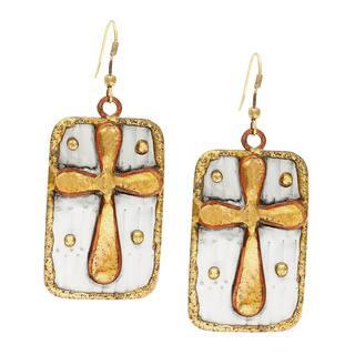 Handmade Square Brass Cross Stainless Steel Earrings (India)|https://ak1.ostkcdn.com/images/products/8497811/Handmade-Square-Brass-Cross-Stainless-Steel-Earrings-India-P15783712.jpg?impolicy=medium