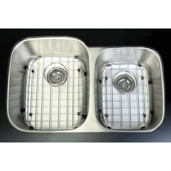 Undermount Stainless Steel 32-inch Double Bowl Kitchen Sink Combo