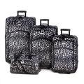 Snow Leopard Print 4-Piece Fashion Luggage Set