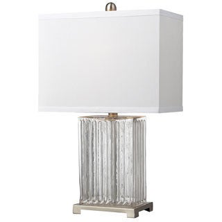 Ribbed Glass 1-light Clear Table Lamp