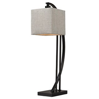 Arched Metal 1-light Bronze Table Lamp