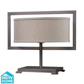 HGTV HOME Classic Chic 1-light Graphite Metal Table Lamp